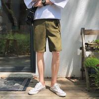 日系港风夏季新款男士休闲短裤 韩版潮流五分裤简约日系口袋裤子