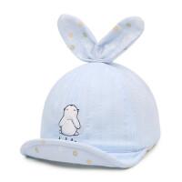 户外儿童翘舌遮阳帽子宝宝鸭舌帽韩版男女童棉布帽小孩翻檐棒球帽