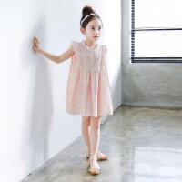 韩版夏季童装女童沙滩裙海边度假裙女大童背心裙儿童无袖连衣裙子