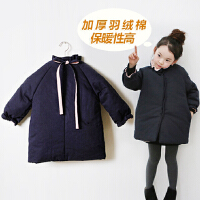 女童棉衣2017新款外套公主中大儿童羽绒韩版小女孩棉袄中长款