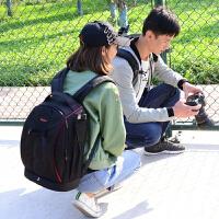 双肩相机包 单反双肩摄影包防水户外 男女佳能大容量防盗背包 电脑内胆+防雨罩