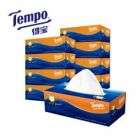 维达卷纸面巾纸得宝面巾纸卷纸4层90抽盒装面巾纸8盒(苹果木味)