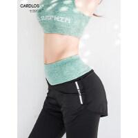 户外瑜珈裤女短裤健身裤速干假两件高腰显瘦跑步运动短裤