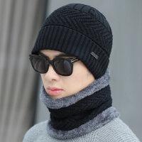 帽子男保暖百搭套头帽骑行防风加绒加厚毛线帽休闲时尚针织帽