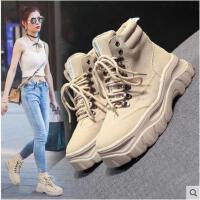 马丁靴女英伦风新款秋冬季厚底机车靴复古韩版百搭ins短靴子