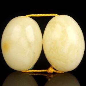白蜡枣珠满蜡配珠套装