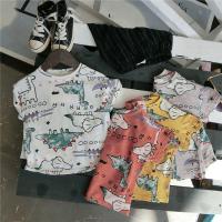儿童短袖T恤夏季童装新品男童恐龙印花半袖宝宝小孩短袖体