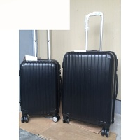 20 24寸出口PC拉杆箱旅行箱行李箱密码锁登机箱 黑色 20寸