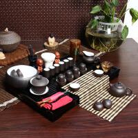 尚帝 紫砂套装 陶瓷茶具套装 整套功夫茶具茶盘套装42件 TZ-M12K99