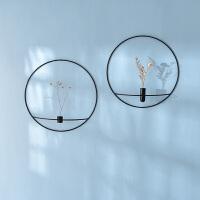 圆形烛台北欧轻奢创意蜡烛台壁挂装饰家居客厅墙面工艺品墙上挂饰