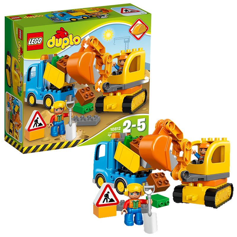 [当当自营]LEGO 乐高 DUPLO得宝系列 卡车和挖掘车套装 积木拼插儿童益智玩具10812【当当自营】适合2-5岁,26pcs小颗粒积木