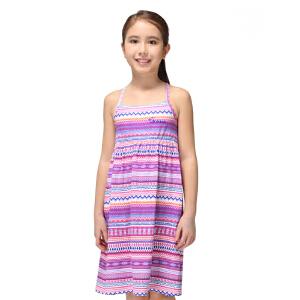 探路者童装 户外运动 夏装女童民族风沙滩长裙吊带 儿童连衣裙