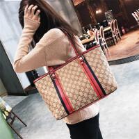 大包包女冬季新款女包韩版简约大气手提时尚大容量单肩斜挎包 红色