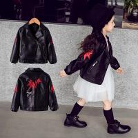女童pu皮衣韩版短款洋气外套中大儿童装小女孩时尚夹克潮
