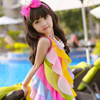 3女童连衣裙5夏季2018新款9岁4小女孩背心吊带裙7宝宝公主沙滩裙6
