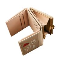 女士钱包短款2018新款学生韩版可爱果冻多功能小钱夹折叠皮夹子