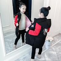 女童棉衣冬装韩版童装女孩中长款冬季中大童儿童棉袄