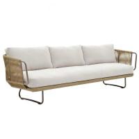 休闲户外藤沙发样板房花园庭院台藤编家具北欧客厅藤椅沙发组合 组合