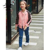 裂帛童装2018冬季新款儿童棉服女童刺绣短棉服棉衣外套56180331
