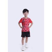 促销儿童羽毛球服短袖套装小孩乒乓球服比赛运动短裤男女亲子套装
