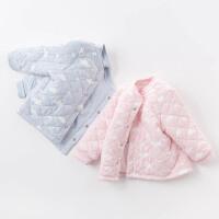 戴维贝拉男女童冬季棉衣 宝宝夹棉内衣DB4709