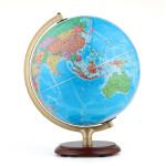 博目地球仪:32cm中文政区灯光AR功能地球仪(木座合金架)