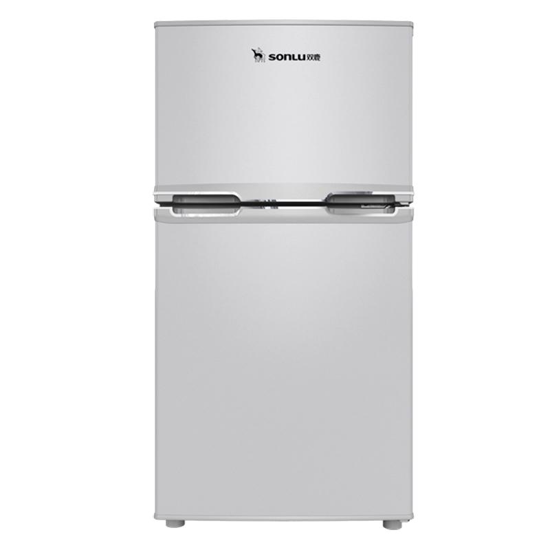 sonLu/双鹿BCD-102C双门冷藏冷冻小型电冰箱家电自营