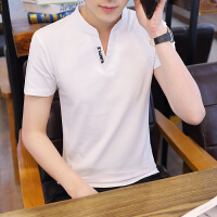 男士短袖T恤V领男韩版潮流短袖潮牌纯棉秋衣打底衫小衫