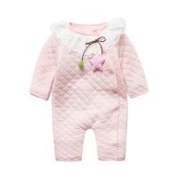 婴儿连体衣服0岁5个月宝宝新生儿潮款内衣冬装童冬季睡衣