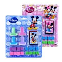 正版迪士尼儿童印章玩具 米奇20件套装可爱卡通印章DM0269