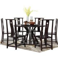 新中式实木餐桌现代简约禅意圆桌别墅家装一桌六椅餐厅家具定制