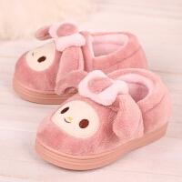 冬季棉拖鞋包跟加厚宝宝可爱女童卡通中大童居家拖鞋