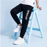 安踏儿童长裤男2020新款中大童针织运动舒适休闲束脚裤A35028712