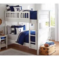 【满减优惠】美式实木家具儿童高低床双胞胎小户型两层上下田园白色子母床定制
