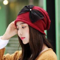 帽子女韩版潮百搭英伦潮流保暖毛线帽甜美可爱针织帽子