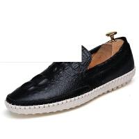 豆豆鞋男秋季英伦时尚潮流鞋男士鳄鱼纹驾车鞋青少年乐福鞋子韩版潮流懒人鞋