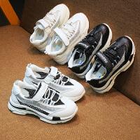 儿童运动鞋春秋男童跑步鞋女童小白鞋镂空网面透气休