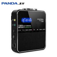 PANDA/熊猫 F-390英语磁带复读机录音插卡U盘mp3初中儿童小学生学习卡带播放机正品便携式单放机随身听 磁带插