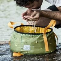 旅游便携式折叠水盆洗脚盆 户外洗脸盆折叠水桶可装热水水盆