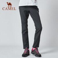 CAMEL骆驼户外 秋冬冲锋裤男女保暖登山裤加绒软壳裤