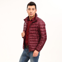 yaloo/雅鹿轻薄时尚羽绒服男士冬季短款轻型外套男款  YS6107260