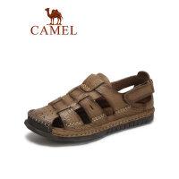 camel骆驼男鞋2019新款夏季凉鞋男士休闲鞋中青年户外沙滩鞋透气缝线鞋