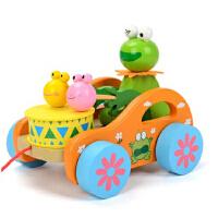 拖拉学步玩具拉车婴幼儿童手推车手拉绳拉线玩具车宝宝玩具
