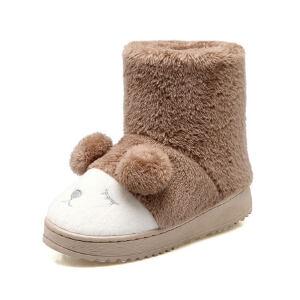 O'SHELL法国欧希尔新品冬季113-X-0993韩版磨砂绒面平跟女士雪地靴