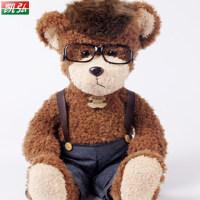 毛绒玩具熊 女生生日礼物阿飞熊 抱枕大号 可爱抱抱熊 牛仔毛绒熊