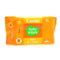 Combi康贝湿纸巾 婴儿柔湿巾 宝宝湿巾纸80片(单包装 柔加厚