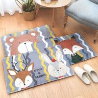北欧可爱地毯地垫家用脚垫儿童房卧室地垫楼梯玄关鞋柜脚垫防滑垫