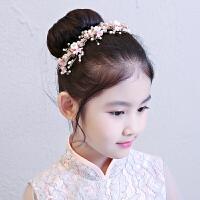 儿童演出礼服配饰头饰发箍花童婚纱花朵钻饰头花女童发饰头箍饰品