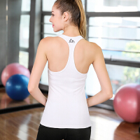 运动上衣女夏季无袖瑜伽背心高弹力紧身透气速干T恤健身服女 白色 后背窄肩