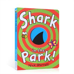 英文原版 Shark In The Park公园里面有鲨鱼 吴敏兰绘本 第26本 Nick Sharratt让孩子在好奇心的带领下读完的绘本 纸板书